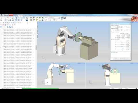 Grinding programming by SprutCAM Robot for Denso robot