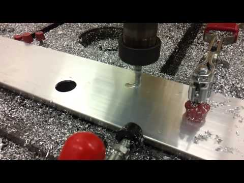Aluminum milling and hole machining with SprutCAM Robot for Staubli robot