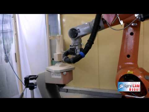 Milling of equipment for orthopedics with SprutCAM Robot for KUKA robot with double tables